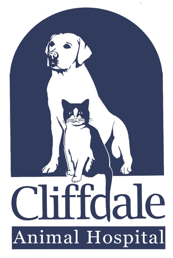 cliffdale animal hospital blue logo